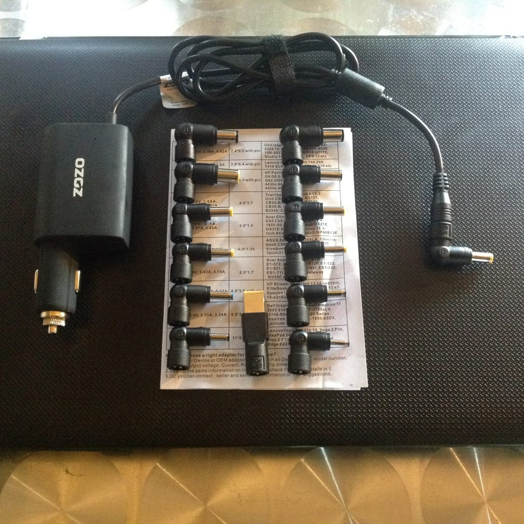 12v laptop car charger – powering my laptop without an inverter