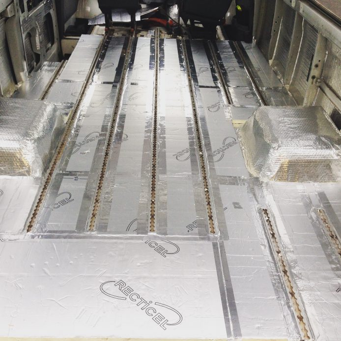Reflectix and rigid foam insulation under my van's floor